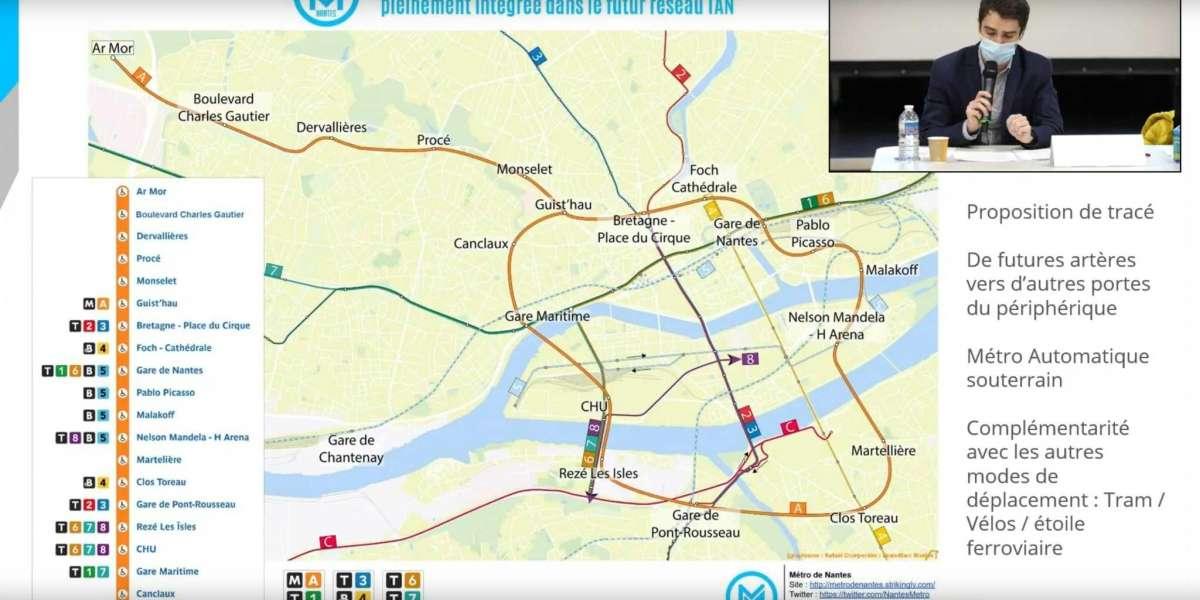 Une ambitieux projet de métro dévoilé à Nantes